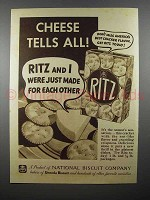 1936 Ritz Crackers Ad - Cheese Tells All