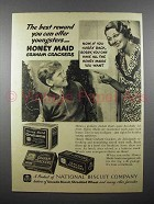 1936 Nabisco Honey Maid Graham Crackers Ad - Reward