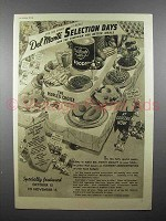 1936 Del Monte Foods Ad - Selection Days