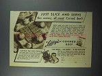 1936 Libby's Corned Beef Ad - Slice and Serve