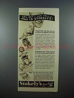 1937 Stokely's Tomato Juice, Grapefruit Juice Ad