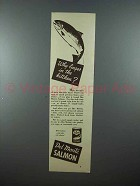 1938 Del Monte Salmon Ad - Why Linger in the Kitchen?
