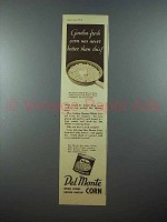 1938 Del Monte Corn Ad - Garden-Fresh Was Never Better