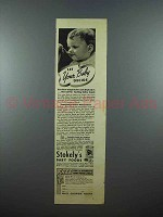 1938 Stokely's Baby Food Ad - Let Your Baby Decide