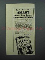 1938 La Choy Vegetables Ad - Know Why Smart Women