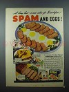 1939 Hormel SPAM Ad - New Idea for Breakfast