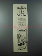 1939 Mazola Salad Oil Ad - Anytime is Salad Time