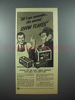 1939 Nabisco Snow Flake Sodas Crackers Ad - Remember