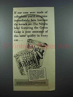 1939 Green Giant Niblets Corn Ad - Cellophane