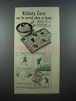 1939 Green Giant Niblets Corn Ad - Plain or Fancy