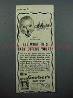 1939 Gerber's Baby Food Ad - See What Offers