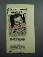 1939 Gerber's Baby Food Ad - Enriched With Vitamin B1