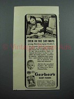 1939 Gerber's Baby Food Ad - United Air Lines