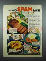 1940 Hormel SPAM Ad - Let's Have a SPAM Bake!