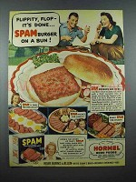 1940 Hormel SPAM Ad - Burger on a Bun!