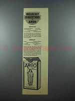 1940 Argo Corn Starch Ad - Breakfast Suggestions