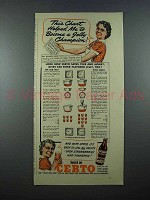 1940 Certo Pectin Ad - This Chart Helped Me