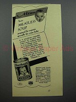 1940 Gerber's Meatless Soup Baby Food Ad - Tasty