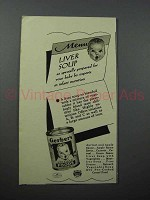 1940 Gerber's Liver Soup Baby Food Ad!