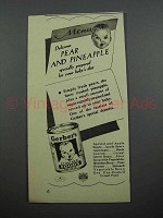 1940 Gerber's Pear and Pineapple Baby Food Ad