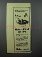 1940 Lindsay Pitted Ripe Olives Ad - Padres Never Knew