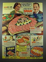 1941 Hormel SPAM Ad - Lunch Is Ready On the Dot