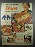 1941 Hormel SPAM Ad - Life With Father More Fun