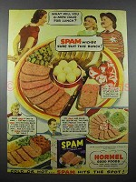 1941 Hormel SPAM Ad - G-Men Have For Lunch?