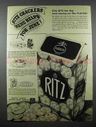 1941 Nabisco Ritz Crackers Ad - Helps for June