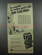 1941 Nabisco Snow Flake Sodas Cracker Ad - Teatime