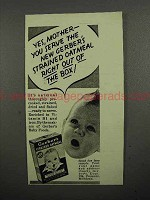 1941 Gerber's Baby Food Ad - Yes, Mother