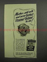 1941 Gerber's Baby Food Ad - Strained Oatmeal