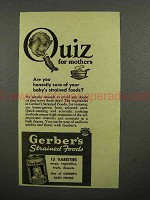1941 Gerber's Baby Food Ad - Strained Foods?