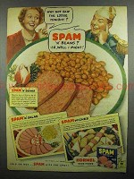 1942 Hormel SPAM Ad - Skip the Lodge Tonight