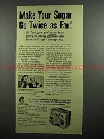 1942 Sure-Jell Pectin Ad - Sugar Go Twice as Far