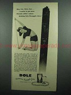 1942 Dole Pineapple Juice Ad - Vitamins While I Reduce