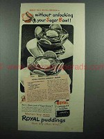 1942 Royal Chocolate Pudding Ad - Without Sugar Bowl