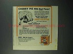 1942 Knox Gelatine Ad - Cherry Pie With Real Flavor
