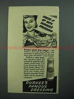 1942 Durkee's Dressing Ad - Potato Salad That Sings