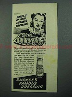 1942 Durkee's Dressing Ad - Minced Ham Magic