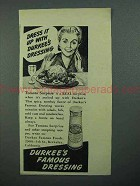 1942 Durkee's Dressing Ad - Tomato Surprise