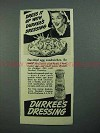 1942 Durkee's Dressing Ad - Devilled Egg Sandwiches