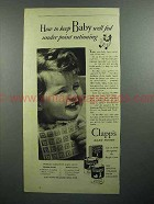 1943 Clapp's Baby Food Ad - Well Fed Point Rationing