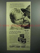 1943 Clapp's Baby Food Ad - The Future of America