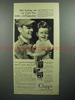 1943 Clapp's Baby Food Ad - Looking Out for Uncle Sam