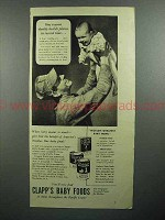 1943 Clapp's Baby Food Ad - Daddy Build Planes