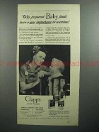 1943 Clapp's Baby Food Ad - New Importance in Wartime