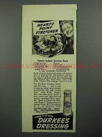 1943 Durkee's Dressing Ad - Potato Salad