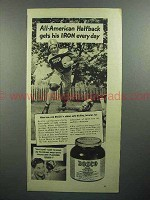 1944 Bosco Chocolate Syrup Ad - All-American Halfback