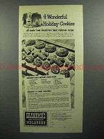 1944 Grandma's Old Fashioned Molasses Ad - 4 Cookies